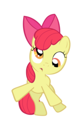 Size: 7000x10862 | Tagged: apple bloom, artist:tardifice, cute, derp, dizzy, female, filly, pony, safe, silly, silly pony, solo, vector, wobbling