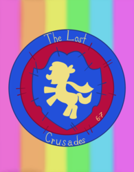 Size: 954x1220 | Tagged: artist:sixes&sevens, cutie mark crusaders patch, fanfic, fanfic art, fanfic cover, rainbow, safe