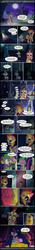 Size: 851x6086 | Tagged: safe, artist:dsana, artist:thedescendant, owlowiscious, spike, twilight sparkle, alicorn, dragon, pony, scare master, armor, athena sparkle, bloodshot eyes, castle, clothes, comic, costume, dragon costume, female, mare, nightmare night, nightmare night costume, sleeping, twilight sparkle (alicorn), twilight's castle, two-headed dragon, under blanket