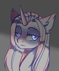 Size: 945x1134 | Tagged: safe, artist:cloud-fly, oc, pony, unicorn, bust, female, mare, portrait, solo