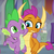 Size: 1004x1006 | Tagged: safe, screencap, smolder, spike, dragon, sweet and smoky, spoiler:s09e09, baby, baby dragon, buddies, claws, cropped, cute, dragoness, duo, fangs, female, flying, folded wings, friends, grin, looking to side, male, side hug, slit eyes, smiling, smolderbetes, spikabetes, spread wings, teacher's lounge, teenaged dragon, teenager, toes, wings