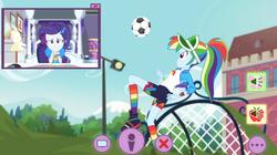 Size: 1280x717 | Tagged: safe, screencap, rainbow dash, rarity, equestria girls, equestria girls series, festival looks, spoiler:eqg series (season 2), picture in picture