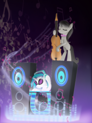 Size: 1001x1341 | Tagged: artist:mr100dragon100, dj pon-3, music notes, octavia melody, safe, vinyl scratch