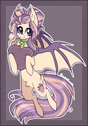 Size: 600x861 | Tagged: artist:d-dyee, bat pony, heart, pillow, safe, solo