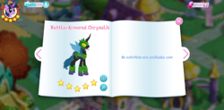 Size: 1467x720 | Tagged: battle armor, gameloft, gem, idw, my little pony game, queen chrysalis, safe, spoiler:comic, spoiler:comicfiendshipismagic5, the cutie re-mark, twilight sparkle