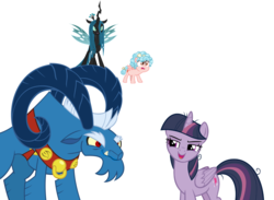 Size: 1500x1100 | Tagged: cozy glow, grogar, mean twilight sparkle, queen chrysalis, safe, shocked, vector