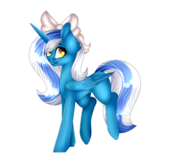 Size: 1024x955 | Tagged: safe, artist:xpastel-lightytx, oc, oc:fleurbelle, alicorn, pony, adorable face, alicorn oc, bow, cute, female, hair bow, mare, simple background, transparent background, wingding eyes