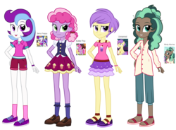 Size: 2448x1800 | Tagged: safe, artist:thecheeseburger, berry preppy, berry sweet, butter pop, minty mocha, pony, equestria girls, background pony, equestria girls-ified, female, friendship student