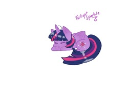 Size: 1280x959   Tagged: safe, artist:destined-myst, twilight sparkle, alicorn, pony, curled up, cute, eyebrows, eyebrows visible through hair, eyes closed, female, mare, prone, simple background, sleeping, solo, twiabetes, twilight sparkle (alicorn), white background
