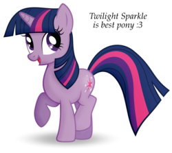 Size: 1059x944 | Tagged: artist:quanno3, artist:statoose, best pony, cute, female, mare, pony, raised hoof, safe, simple background, smiling, solo, transparent background, twiabetes, twilight sparkle, unicorn, unicorn twilight, vector