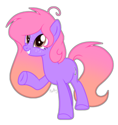 Size: 1280x1359 | Tagged: safe, artist:mintoria, oc, oc:pastel moon, earth pony, pony, female, mare, simple background, solo, transparent background