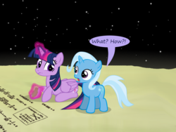 Size: 1200x900 | Tagged: alicorn, artist:evil-dec0y, comic:trixie vs., comic:trixie vs. the moon, safe, trixie, twilight sparkle, twilight sparkle (alicorn)