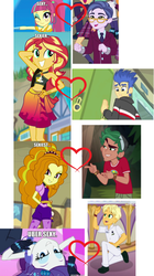 Size: 1092x1956 | Tagged: safe, adagio dazzle, clayton potter, flash sentry, larry cooper, ragamuffin (equestria girls), rarity, sour sweet, sunset shimmer, timber spruce, dance magic, equestria girls, equestria girls (movie), equestria girls series, friendship games, legend of everfree, rainbow rocks, spring breakdown, the other side, spoiler:eqg series (season 2), spoiler:eqg specials, background human, camp everfree logo, camp everfree outfits, claytonsweet, crack shipping, female, flashimmer, male, rarimuffin, shipping, shipping domino, straight, timberdazzle