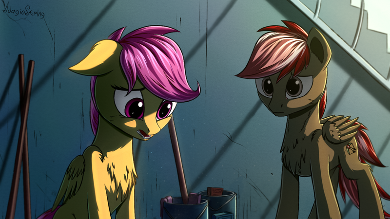2052737 Artist Adagiostring Fanfic Fanfic Art Fanfic Rainbow Factory Group Pegasus Pony Sad Safe Scootaloo Derpibooru Discover more posts about derpibooru. fanfic rainbow factory