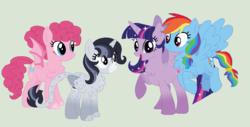 Size: 1070x544 | Tagged: safe, artist:cookiek17, pinkie pie, rainbow dash, twilight sparkle, alicorn, pegasus, pony, female, lesbian, magical lesbian spawn, offspring, parent:pinkie pie, parent:rainbow dash, parent:twilight sparkle, parents:pinkiedash, parents:twidash, parents:twinkie, pinkiedash, polyamory, shipping, twidash, twilight sparkle (alicorn), twinkie
