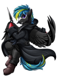 Size: 2308x3083 | Tagged: artist:pridark, clothes, commission, crossover, joker (persona), male, mask, oc, oc only, oc:tornado turbulence, pegasus, pony, ren amamiya, safe, simple background, stallion, transparent background, video game crossover