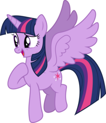 Size: 4331x4993 | Tagged: alicorn, artist:skie-vinyl, cute, female, flying, hoof on chest, mare, open mouth, pony, safe, simple background, smiling, solo, transparent background, twiabetes, twilight sparkle, twilight sparkle (alicorn), vector, wings
