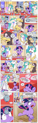 Size: 1200x3853 | Tagged: safe, artist:muffinshire, princess celestia, professor inkwell, twilight sparkle, oc, oc:gisela, alicorn, griffon, pony, unicorn, comic:twilight's first day, adorable distress, comic, crown, cute, dialogue, eating, female, filly, filly twilight sparkle, fishbones, food, glasses, handkerchief, hoof shoes, jewelry, magic, mare, noodles, nose blowing, peytral, plate, regalia, running, scared, speech bubble, spicy, spicy food, table, telekinesis, unicorn twilight, younger