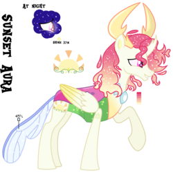 Size: 1850x1853 | Tagged: safe, artist:starling-sentry-yt, oc, oc only, oc:sunset aura, changepony, hybrid, base used, male, offspring, parent:princess celestia, parent:thorax, parents:thoralestia, reference sheet, simple background, solo, transparent background
