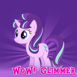 Size: 524x521 | Tagged: safe, editor:sponandi, starlight glimmer, derpibooru, background removed, joke, meme, meta, spoilered image joke, wow! glimmer