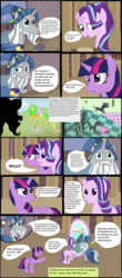Size: 2288x5200 | Tagged: safe, artist:mr100dragon100, star swirl the bearded, starlight glimmer, twilight sparkle, alicorn, pony, comic:to reform a queen, chaos, comic, discorded landscape, reupload, twilight sparkle (alicorn)