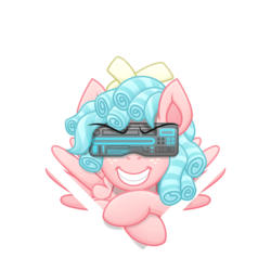 Size: 3322x3323 | Tagged: safe, artist:sol-r, cozy glow, pony, cyber, evil grin, female, filly, grin, simple background, smiling, solo, transparent background, vector, wings