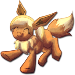 Size: 2101x2072 | Tagged: artist:amura-of-jupiter, eevee, fluffy, oc, oc:coffee creme, oc only, pokémon, safe, solo