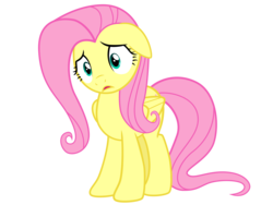 Size: 12000x9000 | Tagged: safe, artist:vvolllovv, fluttershy, pegasus, pony, absurd resolution, cute, floppy ears, shyabetes, simple background, solo, transparent background, vector