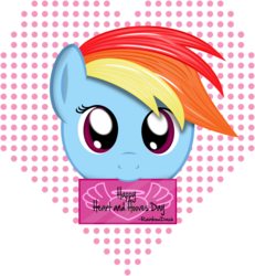 Size: 5772x6243 | Tagged: artist:zeegaas, cute, daaaaaaaaaaaw, dashabetes, heart, hearts and hooves day, hnnng, holiday, looking at you, mouth hold, pegasus, pony, rainbow dash, safe, simple background, solo, transparent background, valentine, valentine's day