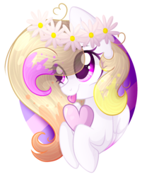 Size: 1788x2052 | Tagged: safe, artist:xxmelody-scribblexx, oc, oc:melody scribble, pegasus, pony, female, heart, mare, solo, tongue out