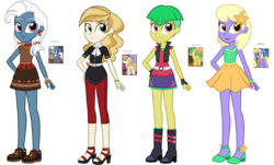 Size: 2736x1656 | Tagged: safe, artist:thecheeseburger, heart pacer, love sketch, orange blossom, prim posy, sweet biscuit, wintergreen, equestria girls, equestria girls-ified, las pegasus resident