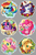 Size: 2880x4320   Tagged: safe, artist:batonya12561, applejack, fluttershy, gummy, pinkie pie, rainbow dash, rarity, tank, twilight sparkle, alicorn, butterfly, earth pony, pegasus, pony, unicorn, apple, apple tree, balloon, book, bucket, cake, chibi, cloud, cowboy hat, cupcake, cute, female, flower, food, globe, guitar, hat, heart, hooves, horn, ice cream, jam, jar, lying down, mane six, mare, muffin, on a cloud, open mouth, pear, pear tree, pie, pillow, prone, quill, reading, rope, rose, scepter, scroll, smiling, sunglasses, tongue out, tree, twilight scepter, twilight sparkle (alicorn), wings, zap apple, zap apple jam