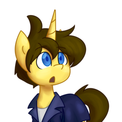 Size: 1360x1360 | Tagged: artist:spheedc, clothes, digital art, jacket, oc, oc:dream chaser, oc only, pony, safe, simple background, solo, transparent background