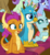 Size: 613x670 | Tagged: safe, screencap, clever musings, cozy glow, gallus, november rain, ocellus, smolder, violet twirl, changedling, changeling, dragon, griffon, pegasus, pony, unicorn, a matter of principals, chest feathers, chest fluff, classroom, claws, cropped, curly hair, curved horn, cute, dragoness, eager, excited, fangs, female, filly, folded wings, friendship student, horn, horns, male, notebook, open mouth, pencil, pencil in mouth, school of friendship, sitting, slit eyes, talons, teenaged dragon, teenager, wings