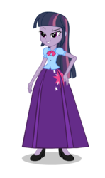 Size: 550x928 | Tagged: alternate universe, artist:cartoonmasterv3, clone, clone twilight, clothes, equestria girls, equestria girls-ified, long skirt, mean twilight sparkle, safe, skirt, solo, the mean 6, twilight sparkle