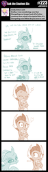 Size: 800x2851 | Tagged: artist:sintakhra, bedroom eyes, changedling, changeling, comic, cute, diaocelles, dragon, dragoness, female, gem, heart, lesbian, monochrome, ocellus, post-it, safe, simple background, smolcellus, smolder, smolderbetes, text, this will end in fire, tumblr:studentsix, white background