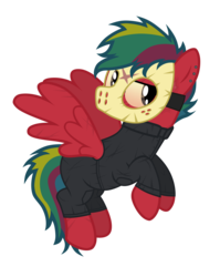 Size: 3896x4895 | Tagged: artist:aborrozakale, clothes, cosplay, costume, friday the 13th, hockey mask, jason voorhees, mask, oc, oc:steel buzz, pegasus, pony, safe, simple background, solo, transparent background