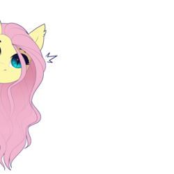 Size: 3000x3000 | Tagged: safe, artist:evehly, fluttershy, bat pony, pony, bat ponified, cute, ear fluff, ear tufts, female, flutterbat, head tilt, looking at you, mare, no mouth, peeking, race swap, shy, shyabates, shyabetes, simple background, slit eyes, slit pupils, solo, white background, wrong eye color