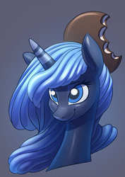 Size: 2480x3508 | Tagged: safe, artist:underpable, princess luna, candy pony, food pony, original species, pony, candy, candy corn, cute, female, food, jelly, licorice, lunabetes, moon pie, ponified, solo