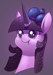 Size: 2480x3508 | Tagged: artist:underpable, blueberry, candy, candy pony, female, food, food pony, ice cream, original species, ponified, pony, safe, solo, sprinkles, twilight sparkle, waffle cone