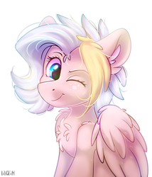 Size: 926x1080 | Tagged: safe, artist:lilclim, oc, oc only, oc:teacup cake, pegasus, pony, cute, female, simple background, solo, white background