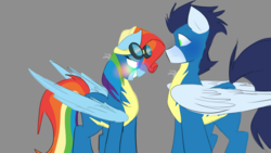 Size: 1280x720 | Tagged: 30 day soarindash challenge, artist:soarindashbestship, clothes, female, male, rainbow dash, rainbow fash, safe, shipping, soarin', soarindash, straight, uniform, wonderbolts, wonderbolts uniform