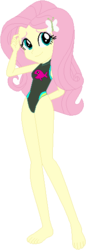 Size: 189x547   Tagged: safe, artist:selenaede, artist:wolf, fluttershy, equestria girls, equestria girls series, forgotten friendship, barefoot, base used, clothes, feet, hairpin, one-piece swimsuit, sleeveless, swimsuit, swimsuit edit