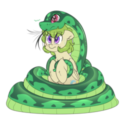 Size: 3000x3000 | Tagged: safe, artist:fluffyxai, oc, oc only, unnamed oc, pegasus, pony, snake, blushing, coils, concerned, cute, daaaaaaaaaaaw, forked tongue, holding hooves, sad, snek, sweat, sweatdrop, tail, teary eyes, tongue out