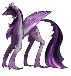 Size: 1280x1376 | Tagged: alicorn, artist:voidsucre, cutie mark, female, long hair, long legs, long tail, looking back, mare, pony, safe, simple background, solo, transparent background, twilight sparkle, twilight sparkle (alicorn), unshorn fetlocks
