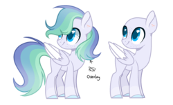 Size: 600x364 | Tagged: artist:thesmall-artist, bald, magical lesbian spawn, male, oc, oc:astral breeze, offspring, parent:rainbow dash, parents:twidash, parent:twilight sparkle, pegasus, pony, safe, solo, stallion