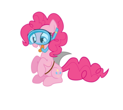 Size: 6280x5600 | Tagged: safe, artist:vvolllovv, pinkie pie, earth pony, pony, absurd resolution, female, shark fin, simple background, solo, transparent background, vector