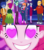 Size: 1920x2160 | Tagged: safe, cherenkov blue, cosmo quark, dax cobalt, ginger specs, grassy knoll (character), pinkie pie, rosette nebula, thick coat, coinky-dink world, eqg summertime shorts, equestria girls, twilight under the stars, spoiler:eqg series (season 2), background human, bald, converse, female, heart eyes, male, male pattern baldness, meme, pinkie the shipper, pinkie's eyes, shoes, sneakers, wingding eyes