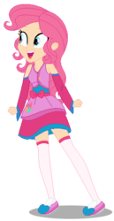 Size: 271x526 | Tagged: safe, artist:awoomarblesoda, oc, oc:honey cakes, equestria girls, base used, clothes, female, magical lesbian spawn, offspring, parent:fluttershy, parent:pinkie pie, parents:flutterpie, simple background, solo, transparent background