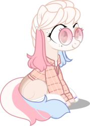 Size: 5717x7963 | Tagged: safe, artist:babyroxasman, oc, earth pony, pony, clothes, glasses, harley quinn, simple background, sitting, socks, solo, transparent background, vector